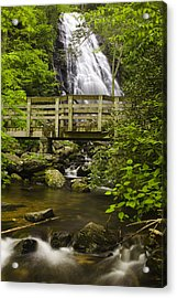 Crabtree Falls And Bridge Acrylic Print by Andrew Soundarajan