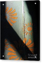 Cracked Wall Acrylic Print by Maria Scarfone