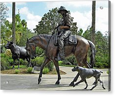 Cracker Cowboy And His Dog Acrylic Print
