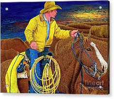 Cracker Cowboy Sunrise Acrylic Print