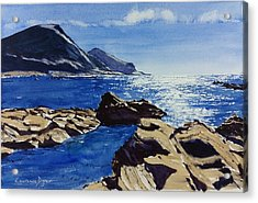 Crackington Haven Sparkle Acrylic Print
