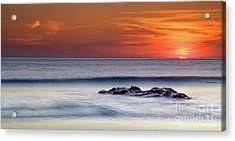 Crackington Haven Sunset, Cornwall, Uk Acrylic Print