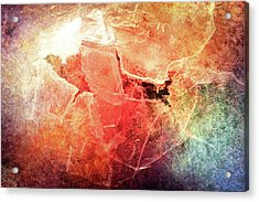 Cracks Of Colors Acrylic Print