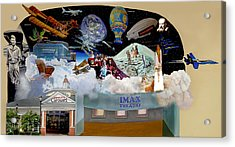Cradle Of Aviation Museum Imax Theatre Acrylic Print