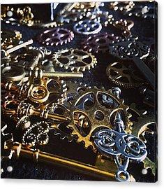 Crafting Steampunk Soon #steampunk Acrylic Print