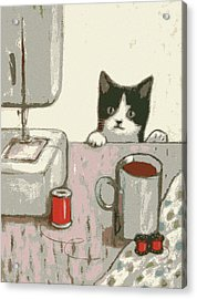 Crafty Cat #2 Acrylic Print