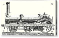 Crampton Locomotive Acrylic Print by English School