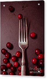 Cranberries And Fork Acrylic Print