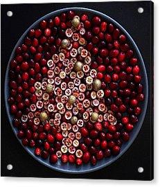 Cranberry Christmas Tree Acrylic Print