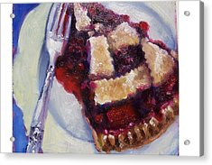 Cranberry Raisen Pie         Acrylic Print by Susan Jenkins