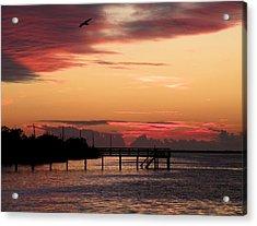 Cranberry Sunset Acrylic Print by Rosalie Scanlon