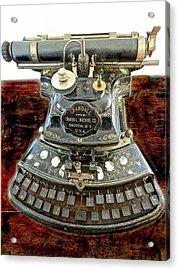 Crandall Type Writer 1893 Acrylic Print