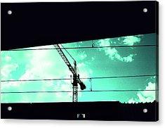 Crane And Shadows Acrylic Print