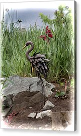 Acrylic Print featuring the photograph Crane by Cherie Duran
