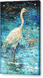 Crane Reflection Acrylic Print