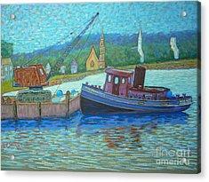 Cranes And Spires Acrylic Print