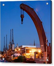 Cranes, Bristol Harbour Acrylic Print