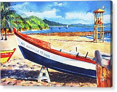 Crash Boat Beach Acrylic Print by Estela Robles