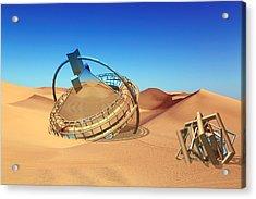 Crash Space Craft In The Desert Acrylic Print