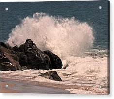 Acrylic Print featuring the photograph Crashing by Ron Dubin