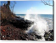 Crashing The Shore Acrylic Print by Sandra Updyke