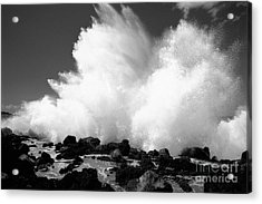 Crashing Wave - Bw Acrylic Print by Dana Edmunds - Printscapes