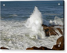 Crashing Waves Acrylic Print by Curtis Gibson