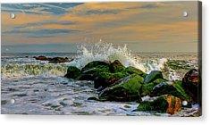 Crashing Waves Acrylic Print by David Hahn