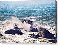 Acrylic Print featuring the photograph Crashing Waves by Kim Wilson
