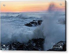 Crashing Waves Acrylic Print by Masako Metz