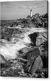 Crashing Waves, Portland Head Light, Cape Elizabeth, Maine  -5605 Acrylic Print