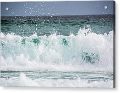Crashing Waves Acrylic Print by Shelby  Young