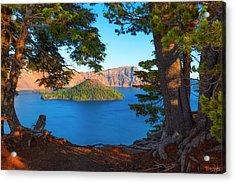 Crater Lake Early Dawn Scenic Views Ix Acrylic Print
