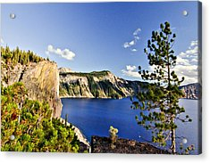 Crater Lake II Acrylic Print by Albert Seger