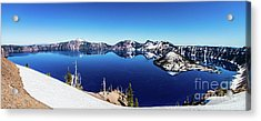 Acrylic Print featuring the photograph Crater Lake by Jonny D