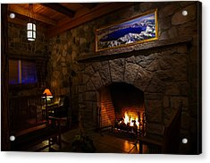 Crater Lake Lodge Fireside Relaxation Acrylic Print