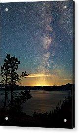 Crater Lake Milky Way Acrylic Print