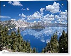 Crater Lake Reflections Acrylic Print by Loree Johnson
