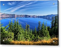 Acrylic Print featuring the photograph Crater Lake Rim Reflections by Frank Wilson