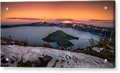 Crater Lake Summer Sunset Acrylic Print