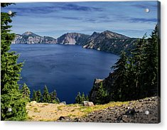 Acrylic Print featuring the photograph Crater Lake View by Frank Wilson