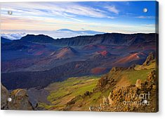 Craters Of Paradise Acrylic Print by Mike  Dawson