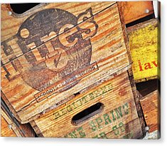 Acrylic Print featuring the photograph Crates For Hires by Olivier Calas