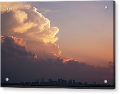 Crazy Clouds Over The Boston Skyline Boston Ma Winthrop Ma Acrylic Print by Toby McGuire