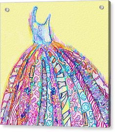 Crazy Color Dress Acrylic Print by Andrea Auletta