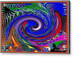 Crazy Colorful Fineart Waves Pattern By Navinjoshi At Fineartamerica.com Elegant Interior Decoractio Acrylic Print
