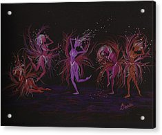Acrylic Print featuring the drawing Crazy Day At Work Dance by Dawn Fairies