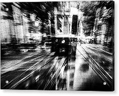 Crazy Driver Acrylic Print by Samanta