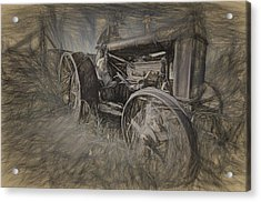 Crazy Farmer Acrylic Print