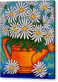 Crazy For Daisies Acrylic Print